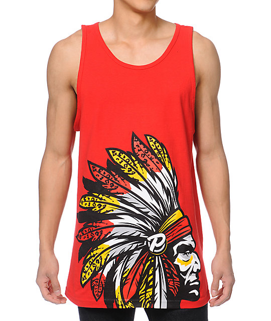 Popular Demand Chief Pro Red Tank Top