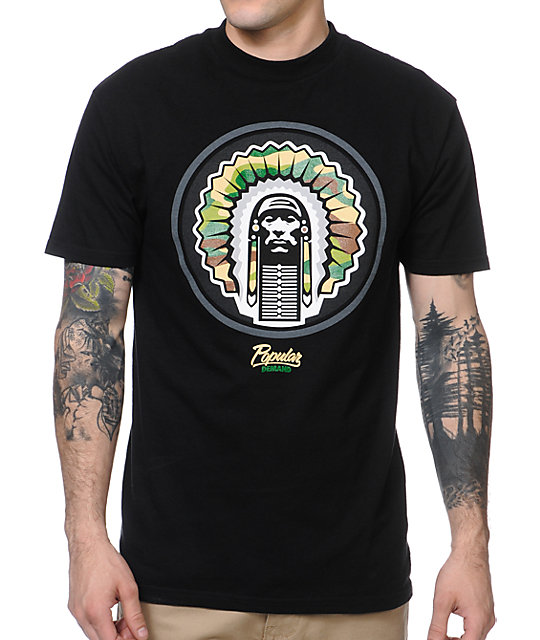 Popular Demand Circle Chief Black T-Shirt