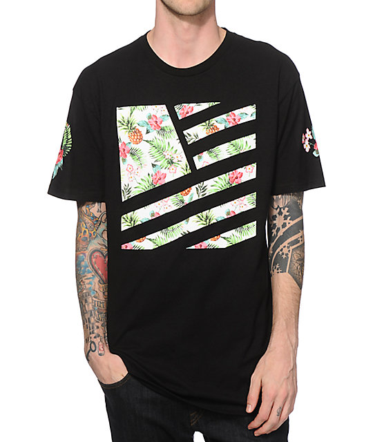 Popular demand pineapple square flag t shirt at zumiez pdp for T shirt on demand