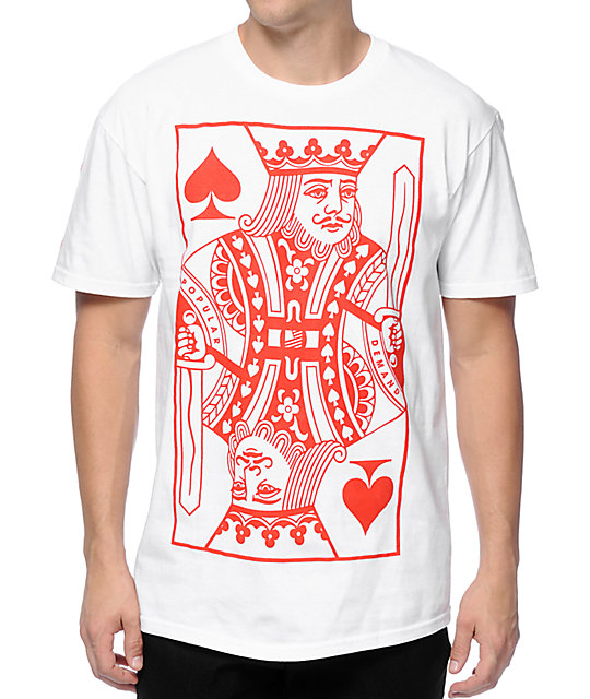 Popular Demand Straight Flush King White T-Shirt