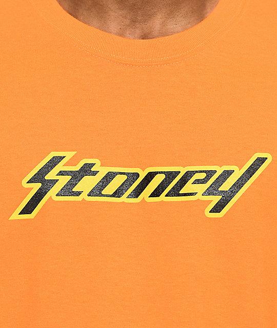 Post Malone Cleaned Up: Post Malone Stoney Orange T-Shirt