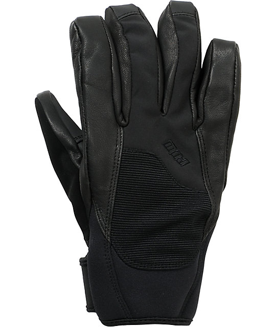 Pow Mega Black 10K Snowboard Gloves