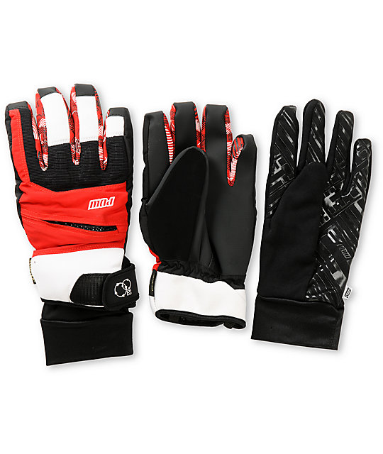 Pow Sniper GTX Red GORE-TEX Snowboard Gloves