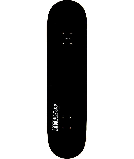 black skateboard deck