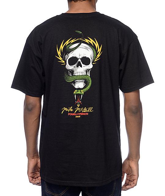 Powell Skull And Snakes Black T-Shirt