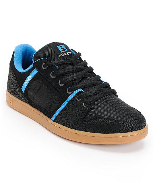 Praxis Core Black, Blue & Gum Skate Shoes