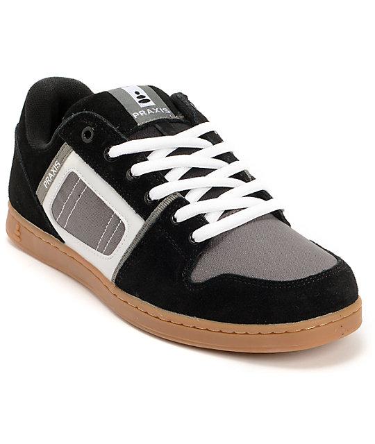 Praxis Core Black, Grey & Gum Skate Shoes