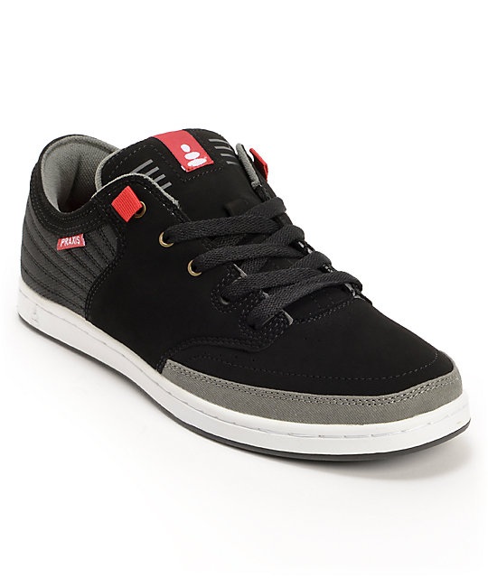 Praxis Poet Black Nubuck Skate Shoes