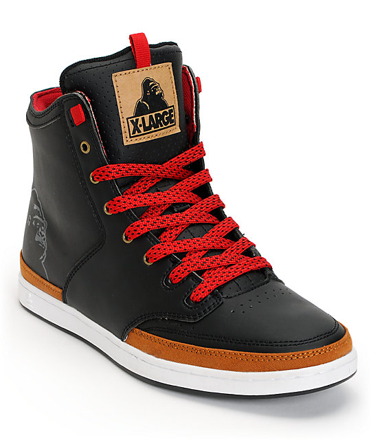 Praxis x X-Large XLP Black & Tan Skate Shoes
