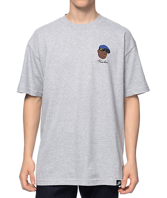 Primitive Biggie Shades Heather Grey T-Shirt