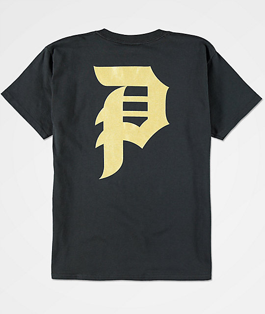 Boys Dirty P Black & Gold T-Shirt