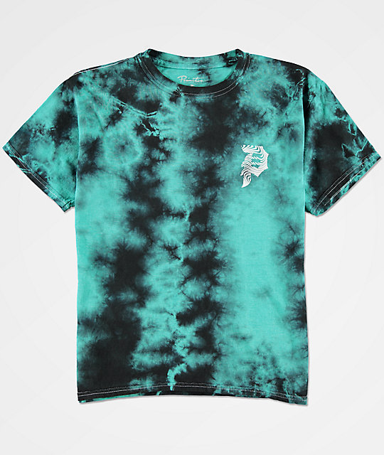 Primitive boys dirty p waves teal tie dye t shirt for Boys teal t shirt