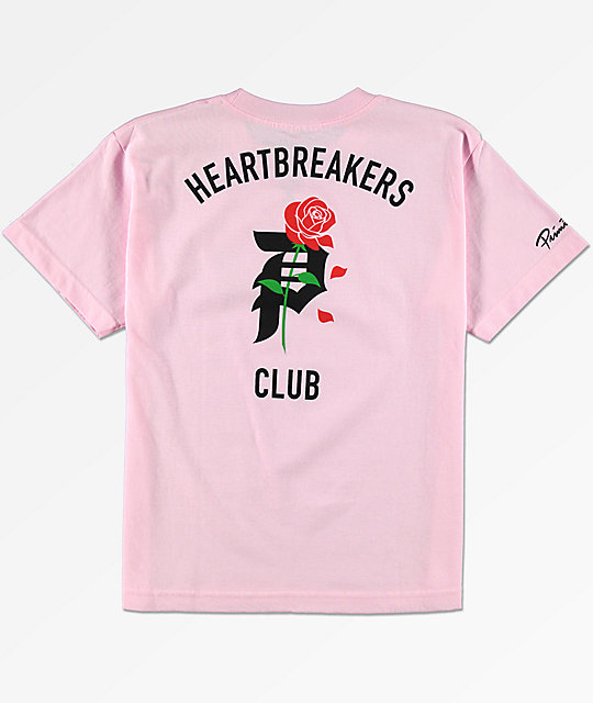 Primitive Boys Heartbreak Pink T-Shirt | Zumiez