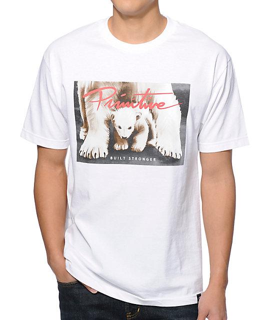 Primitive Built Stronger White T-Shirt