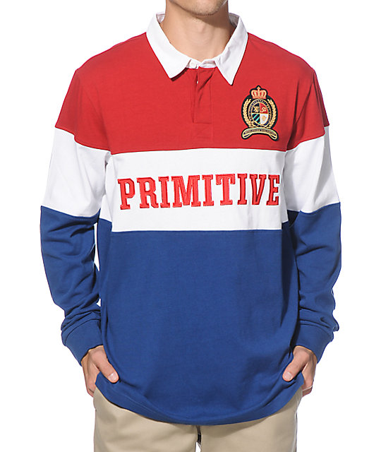 Primitive Captain Long Sleeve Rugby Shirt