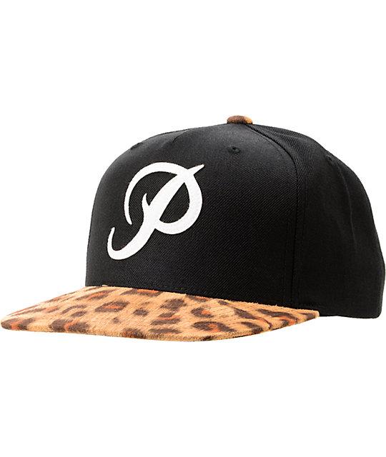 Primitive Classic P Black & Leopard Starter Snapback Hat