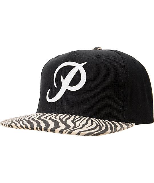 Primitive Classic P Black & Zebra Starter Snapback