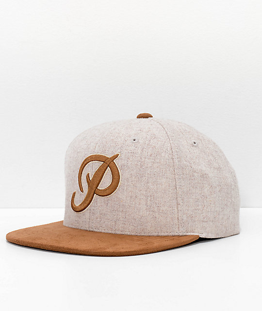 Primitive Classic P Brown Wool Snapback Hat