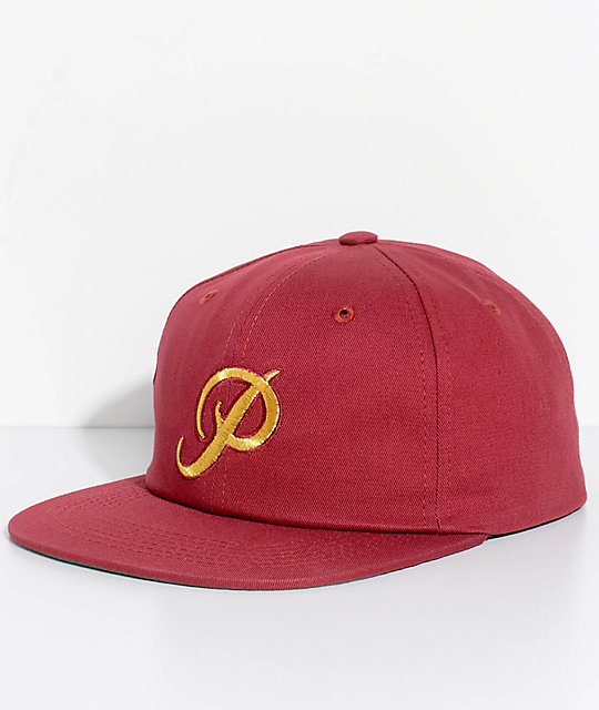 Primitive Classic P Burgundy Snapback Hat