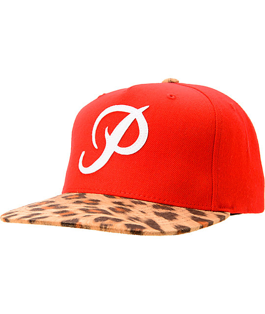 Primitive Classic P Red & Cheetah Starter Snapback