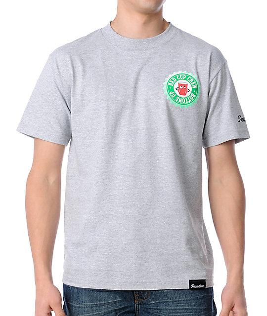 Primitive Clothing RCC Bottoms Up Grey T-Shirt