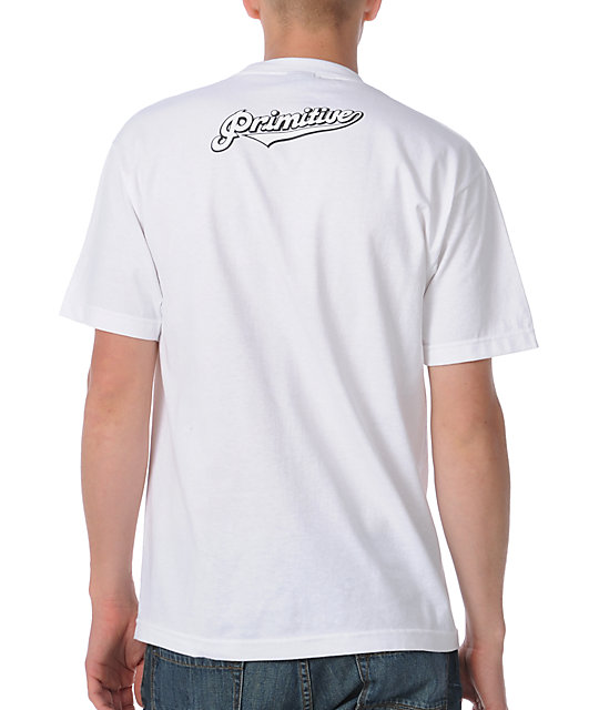 Primitive Clothing Skunked White T-Shirt