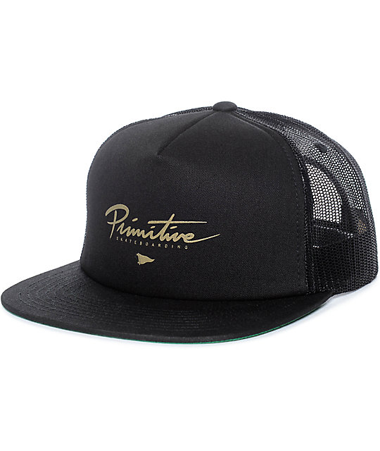 Primitive Core Logo Black Trucker Hat