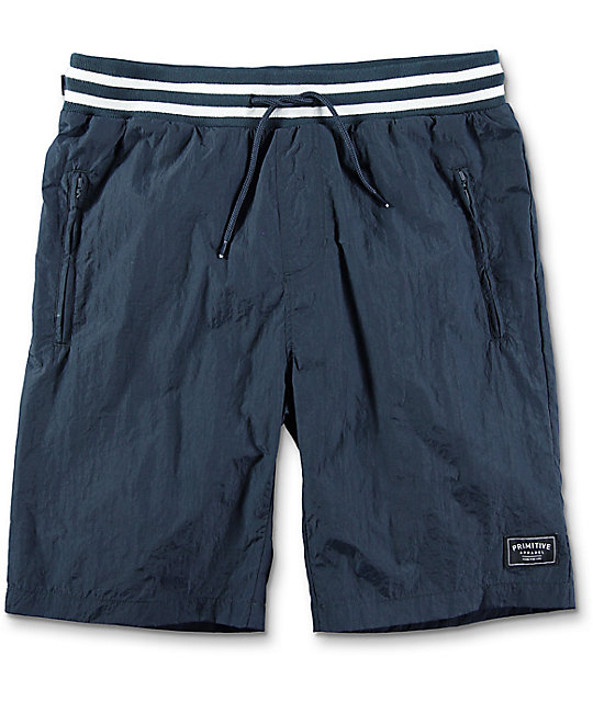 Primitive Creped Warm Up Navy Shorts