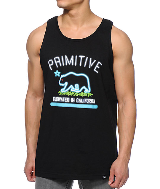 Primitive Cultivated Neon Black Tank Top