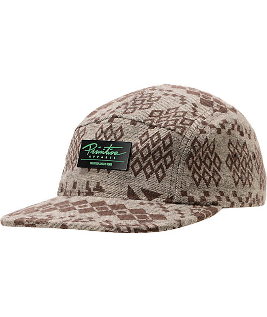 Primitive Dreamcatch Brown 5 Panel Hat
