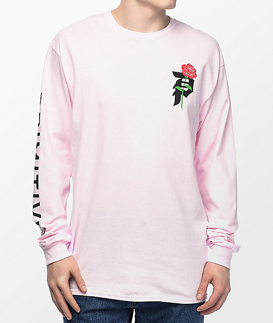 Primitive heartbreakers camiseta rosa de manga larga zumiez for Mens pink long sleeve shirt