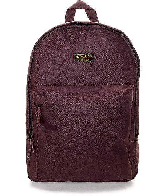Primitive Homeroom Burgundy Backpack