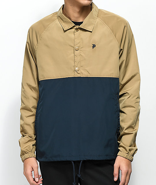 Primitive Navy & Camel Anorak Coaches Jacket by Primitive