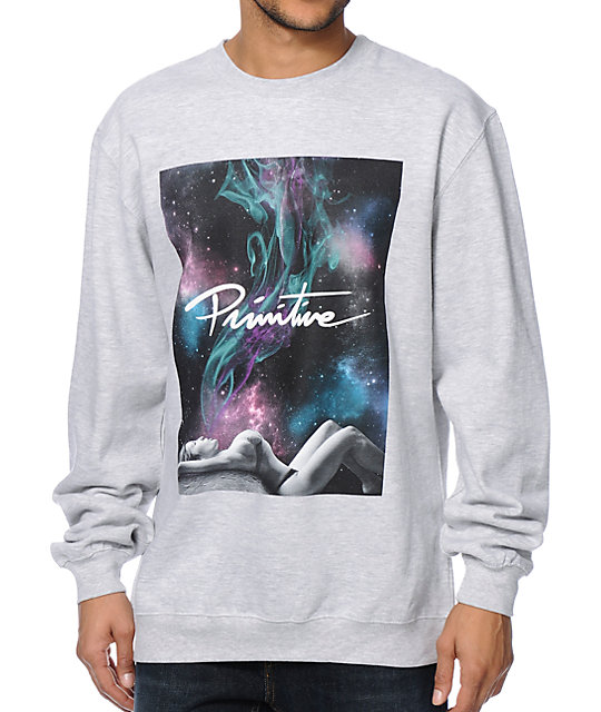 Primitive Northern Lights Smoke Crew Neck Sweatshirt