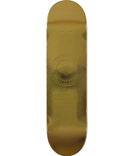 "Primitive P-Rod Gold Bar 8.125""  Skateboard Deck"