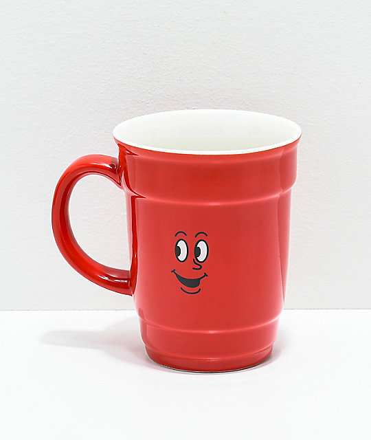 Primitive Red Cup Ceramic Coffee Mug by Primitive