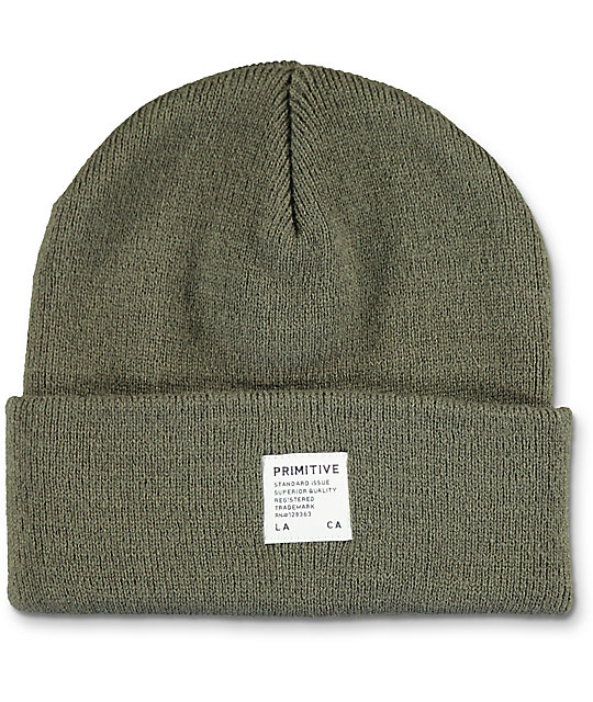 Primitive Registry Olive Beanie