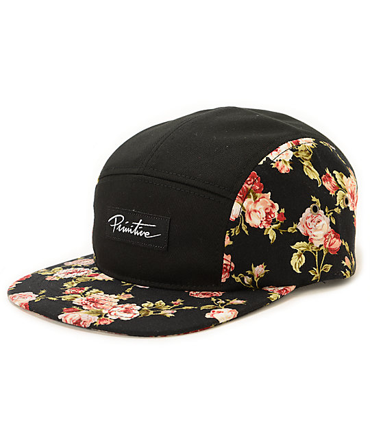 Primitive Roses 5 Panel Hat