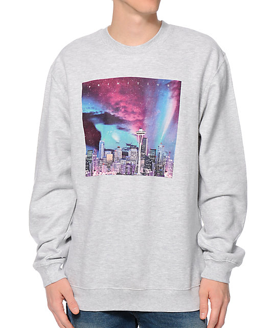 Primitive Seattle City Lights Crew Neck Sweatshirt