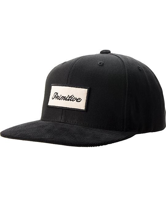 Primitive Signature Script Black Snapback Hat