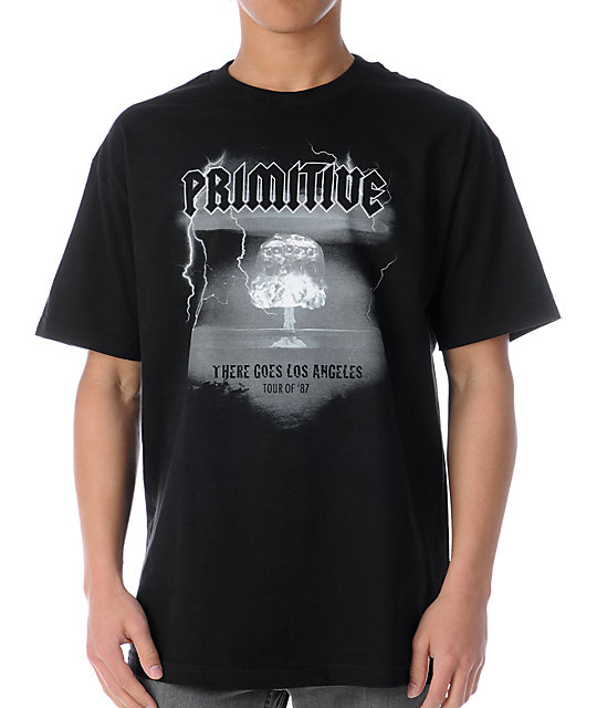Primitive There Goes LA Black T-Shirt