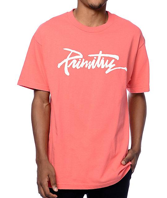 Primitive Thrashed Coral T Shirt