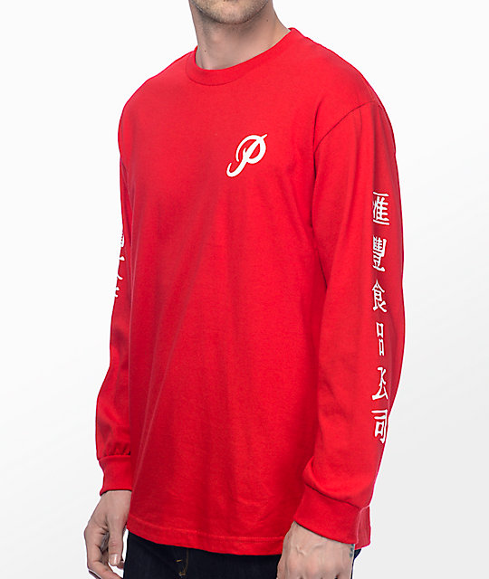 Primitive X Huy Fong Red Long Sleeve T-Shirt at Zumiez : PDP