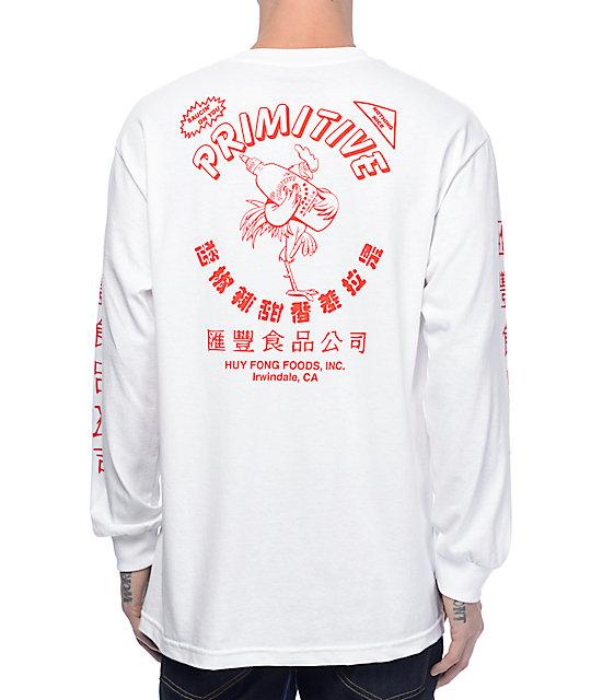 Primitive X Huy Fong White Long Sleeve T-Shirt