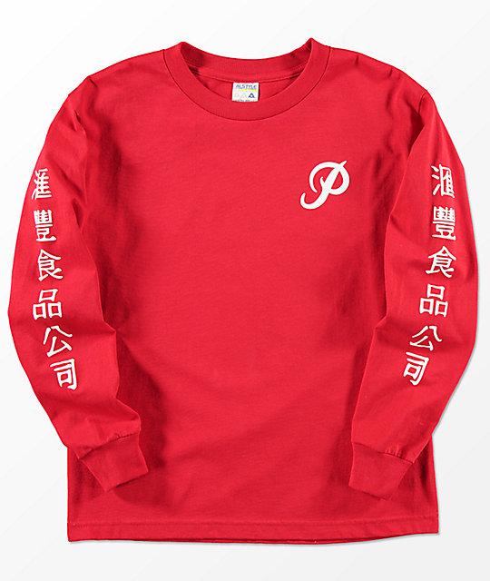 Primitive x Huy Fong Boys Long Sleeve Red T-Shirt | Zumiez