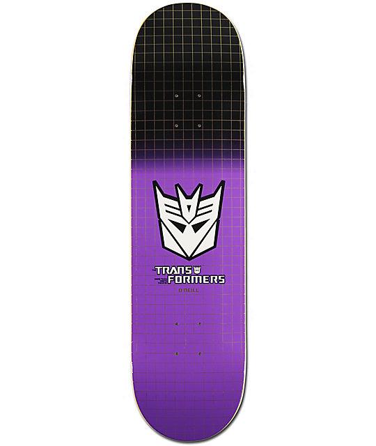 "Primitive x Transformers O'Neil Decepticon Grid 8.12"" Skateboard Deck"
