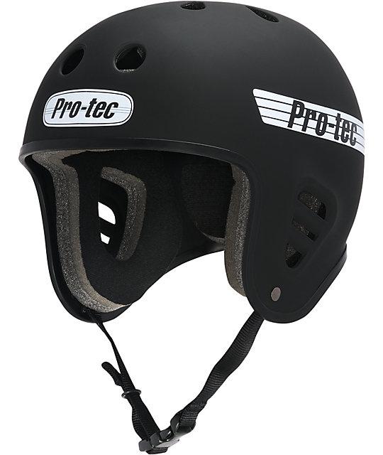 Pro-Tec Full-Cut Rubber Black Skate Helmet