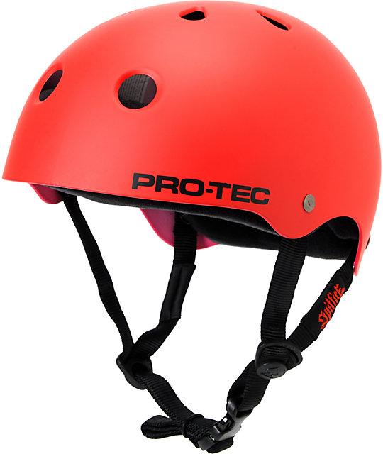 Pro-Tec x Spitfire Classic Satin Red Skateboard Helmet