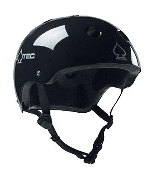 Pro-tec Classic Black Gloss Skateboard Helmet