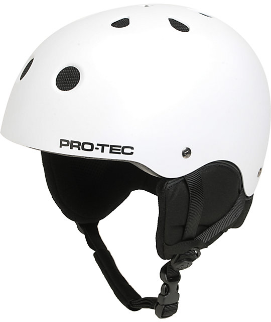 Pro-tec Classic White Snowboard Helmet